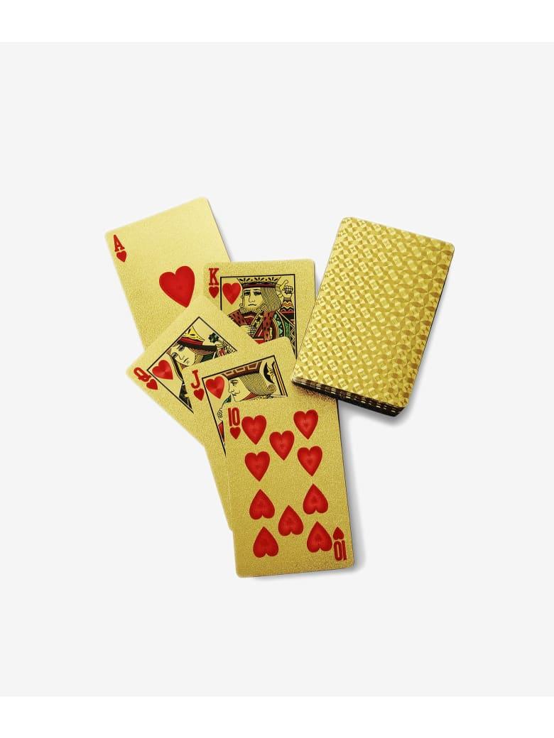 """Larusmiani Gold Plated Card Deck """"royale-les-eaux"""" - gold"""