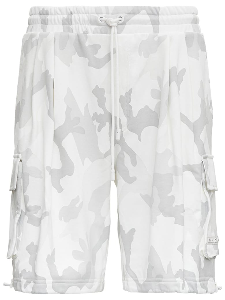 Dolce & Gabbana Camouflage Jersey Bermuda Shorts - White