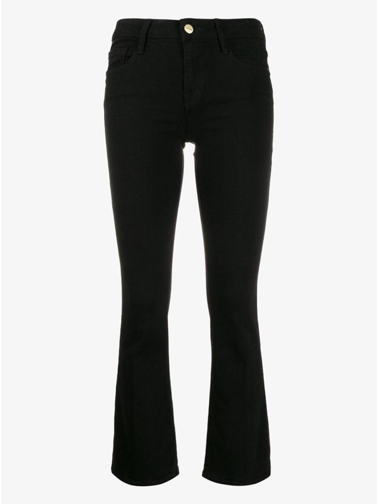 Frame Black Flared Denim Jeans - Black