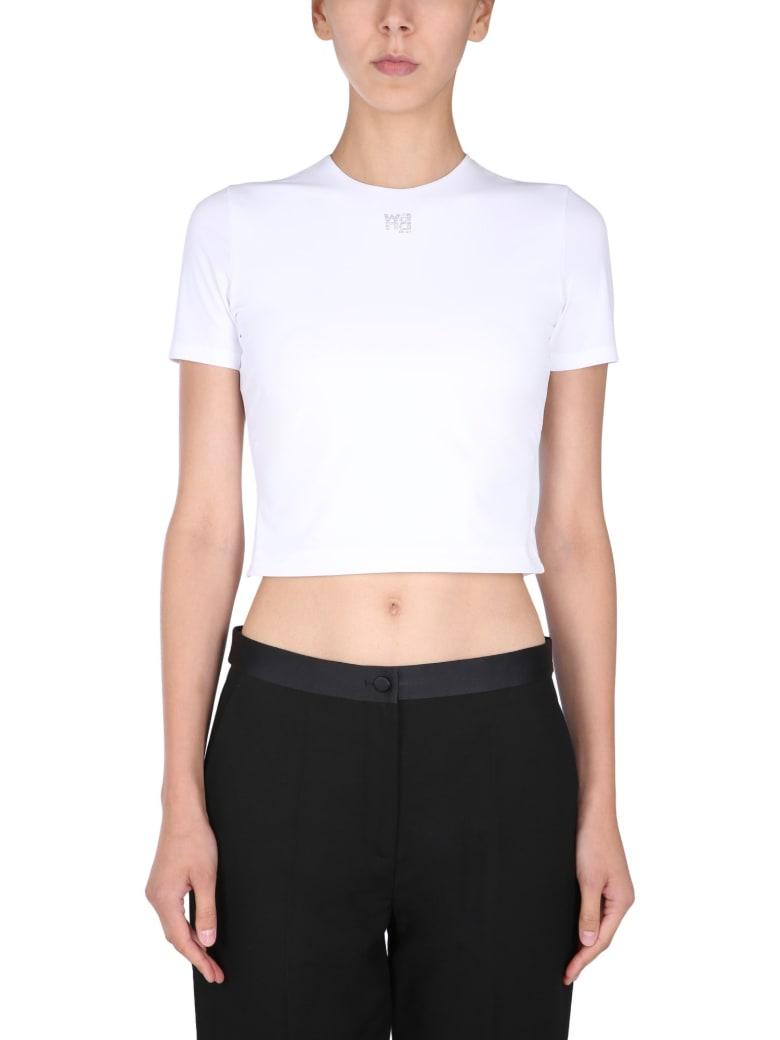 T by Alexander Wang Cropped T-shirt - BIANCO