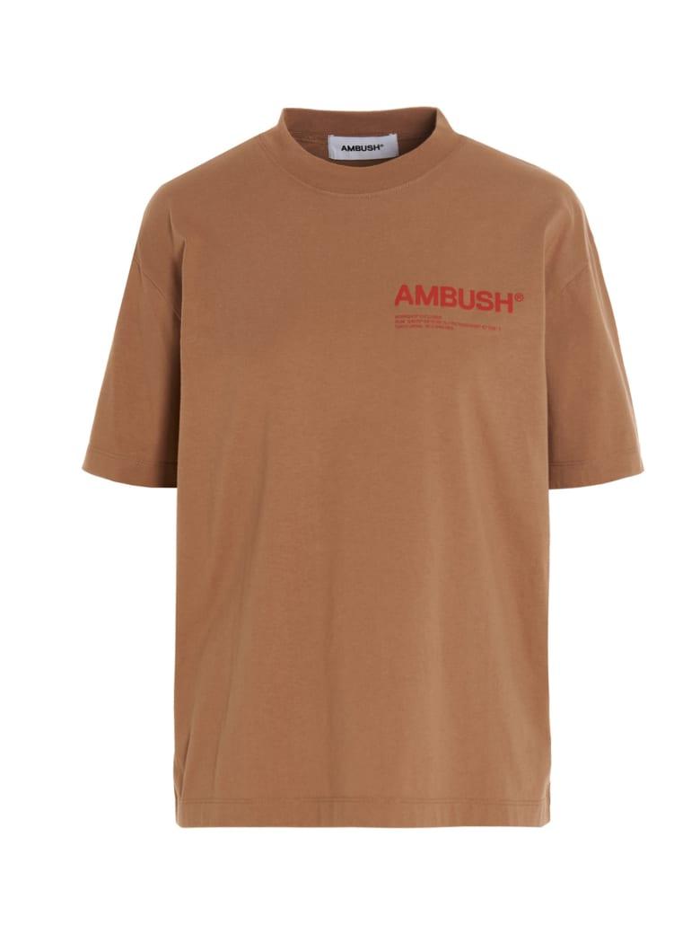 AMBUSH Logo 'workshop' T-shirt - Beige