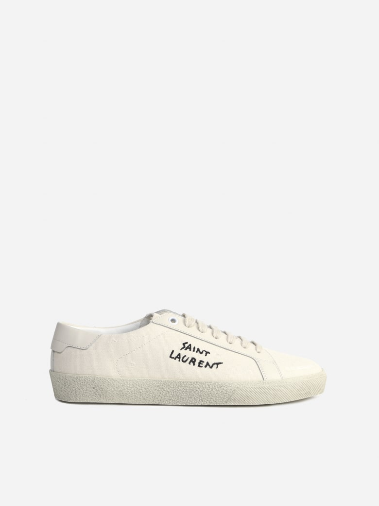 Saint Laurent Court Sl / 06 Sneakers In Cotton - Cream