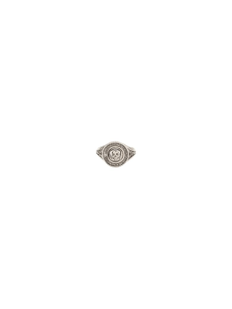 Alexander McQueen Alexander Mc Queen Medallion Ring - Mcq0911sil.v.b. antil