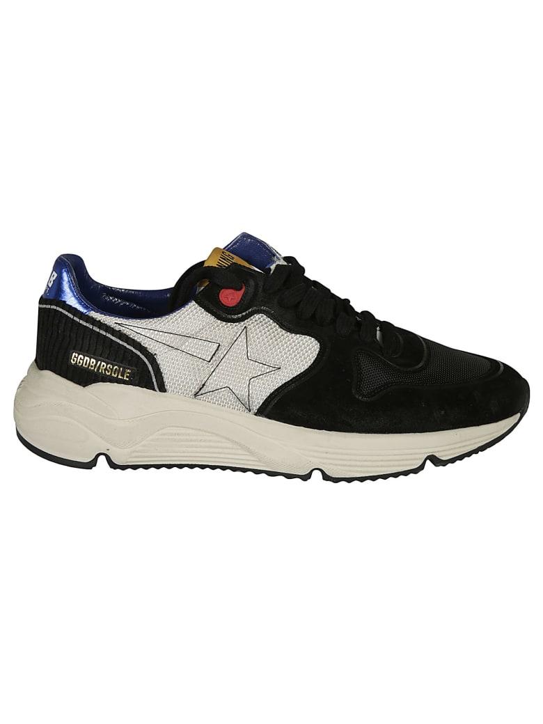 Golden Goose Running Sole Sneakers - White/Black/Blue