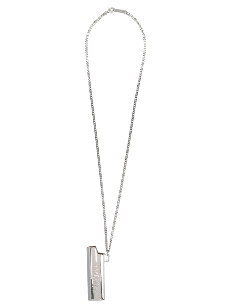 AMBUSH 'lighter Case' Ncklace - Silver