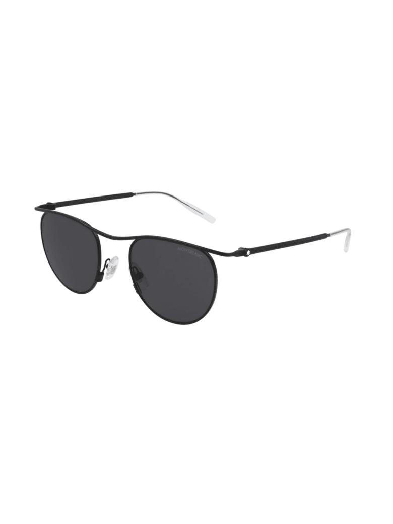 Montblanc MB0168S Sunglasses - Black Black Grey