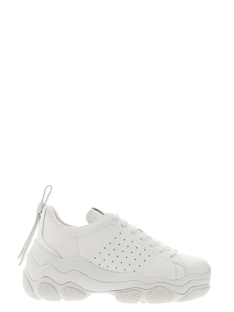 RED Valentino Low-top Sneaker In Leather - White