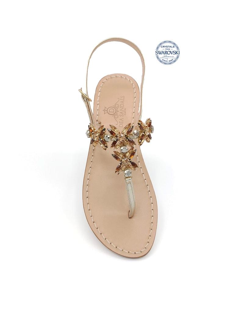 Dea Sandals Bagni Di Tiberio Jewel Thong Sandals - gold, gray, amber
