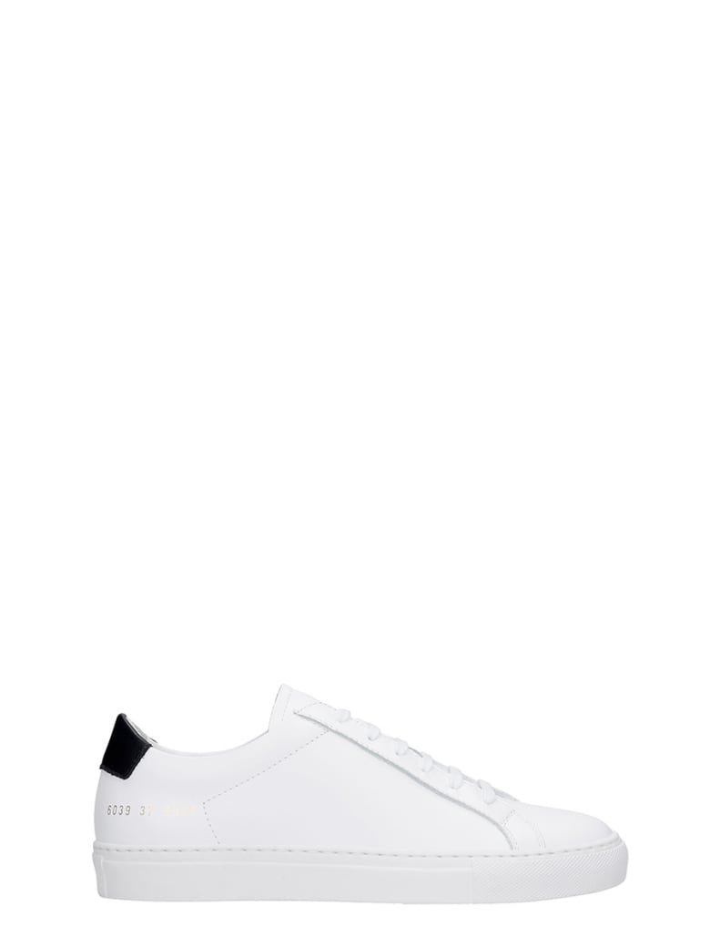 Common Projects Retro  Sneakers In White Leather - white