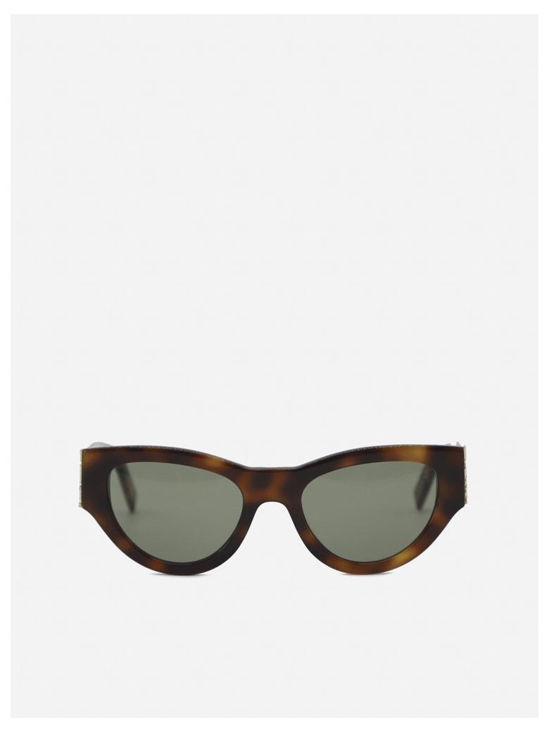 Saint Laurent Sl M94 Sunglasses - Havana green