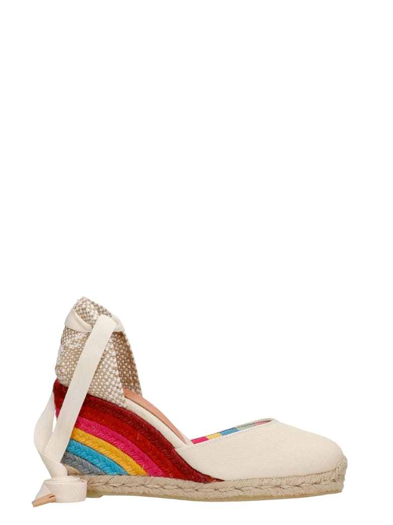 Castañer by Paul Smith Carina Ps 8-001 Wedges In Beige Canvas - beige