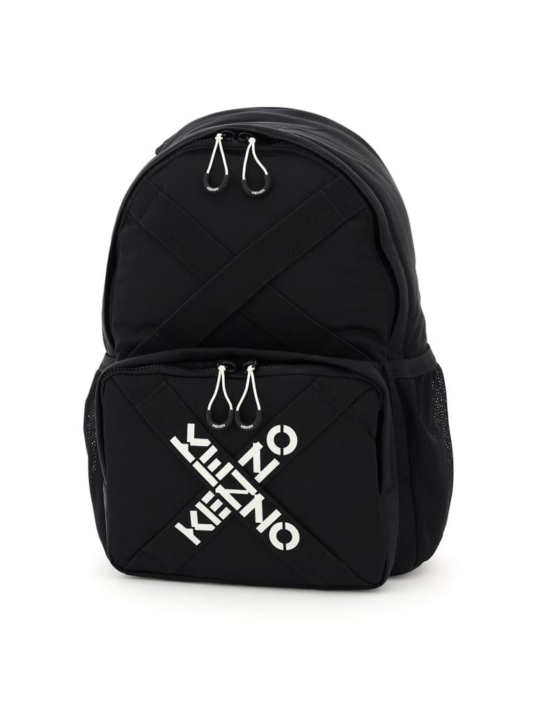 Kenzo Cross Logo Nylon Backpack - Noir