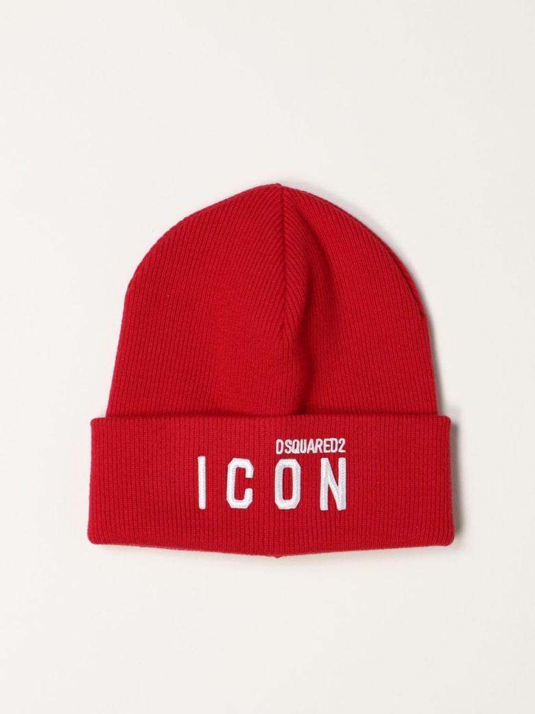Dsquared2 Hat Icon Dsquared2 Beanie Hat - Red