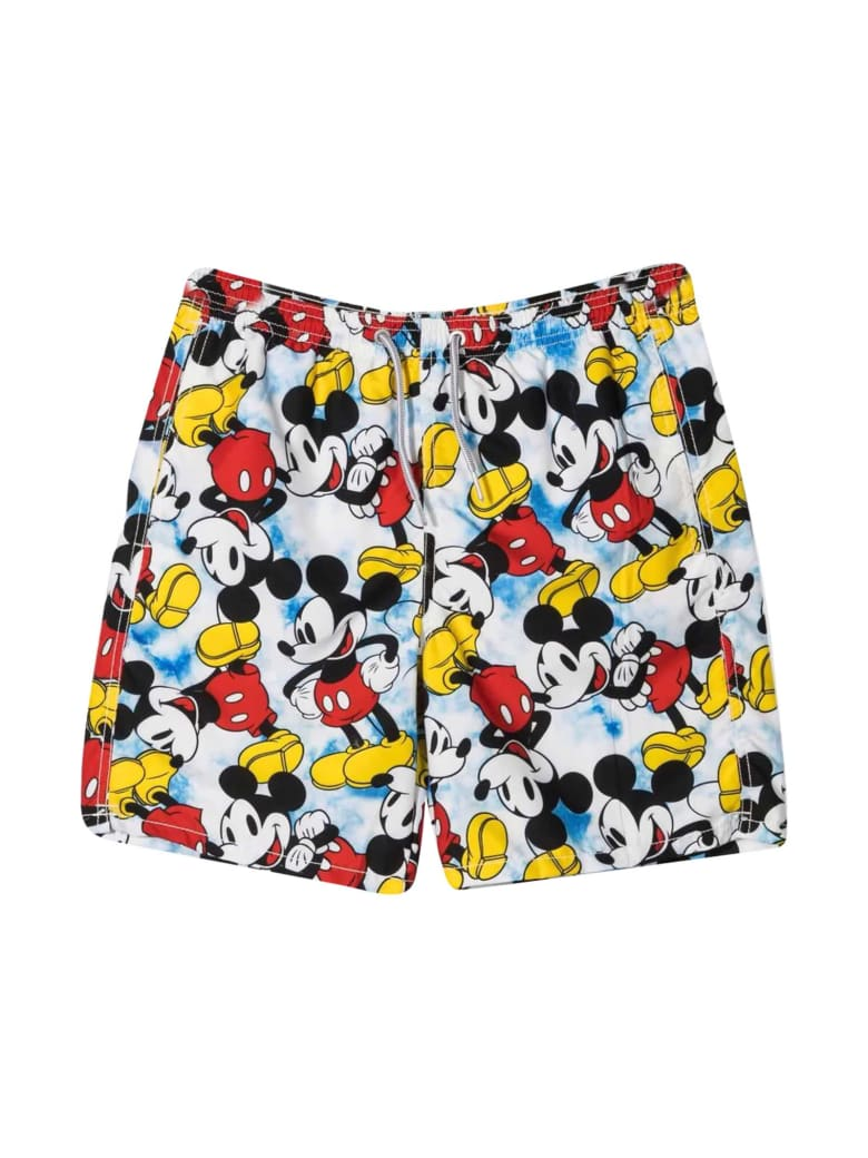 MC2 Saint Barth Mickey Teen Swim Shorts With Print - Unica
