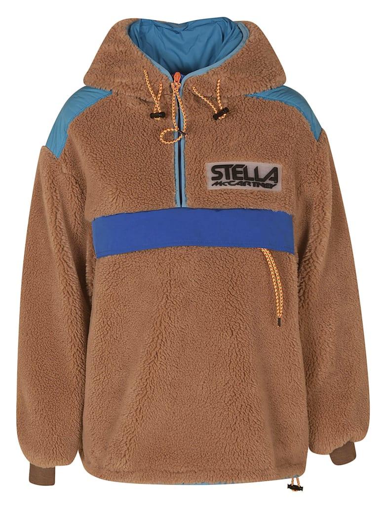 Stella McCartney Embossed Logo Fur Detail Jacket - Biscuit