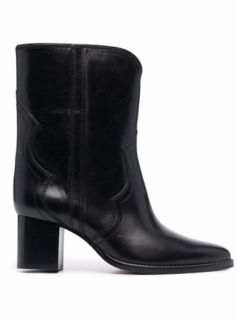 Isabel Marant Roree Black Leather Boots - Black