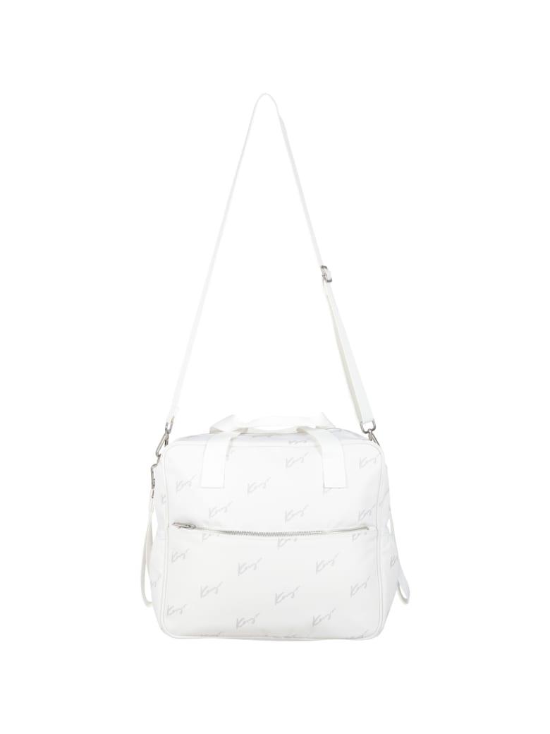 Kenzo Kids White Changing Bag For Baby Kids - White
