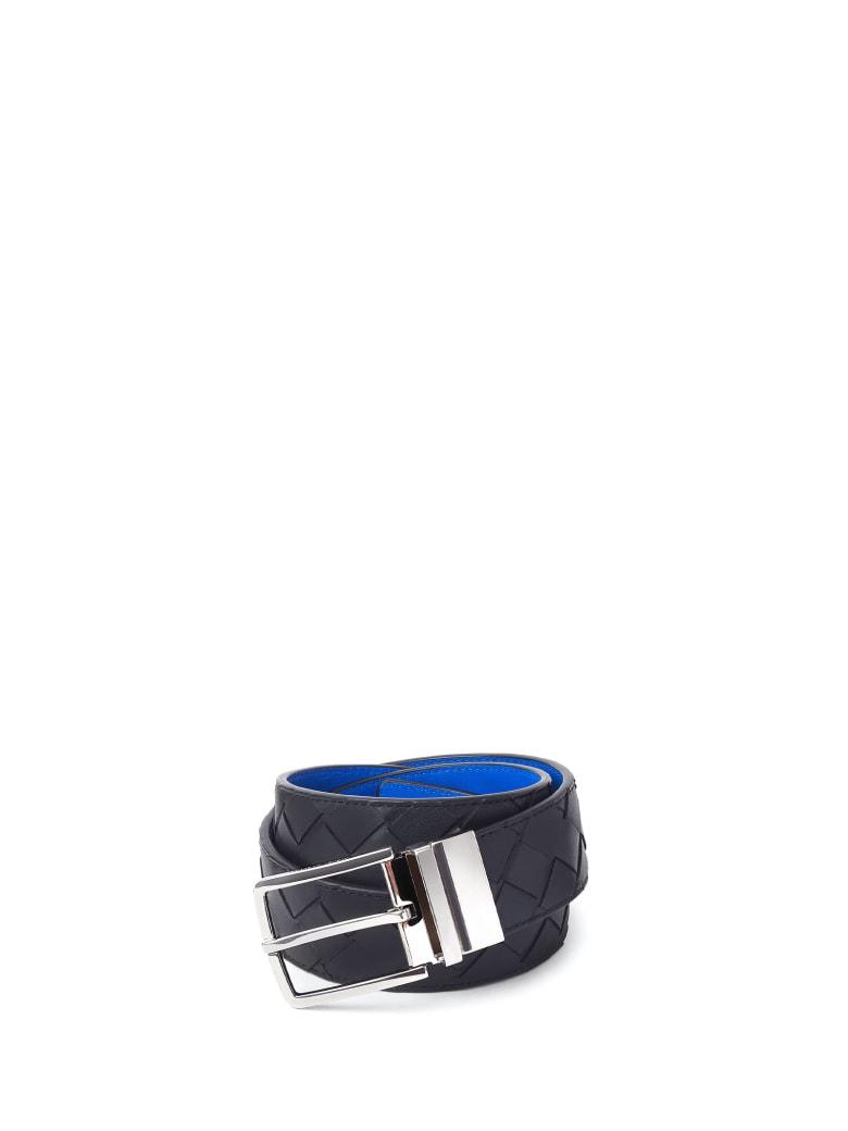 Bottega Veneta Belt In Leather - BLACK COBALTO