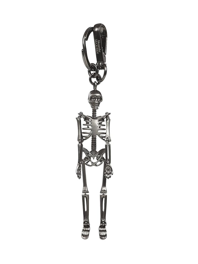 Alexander McQueen Skeleton Key Ring - Silver