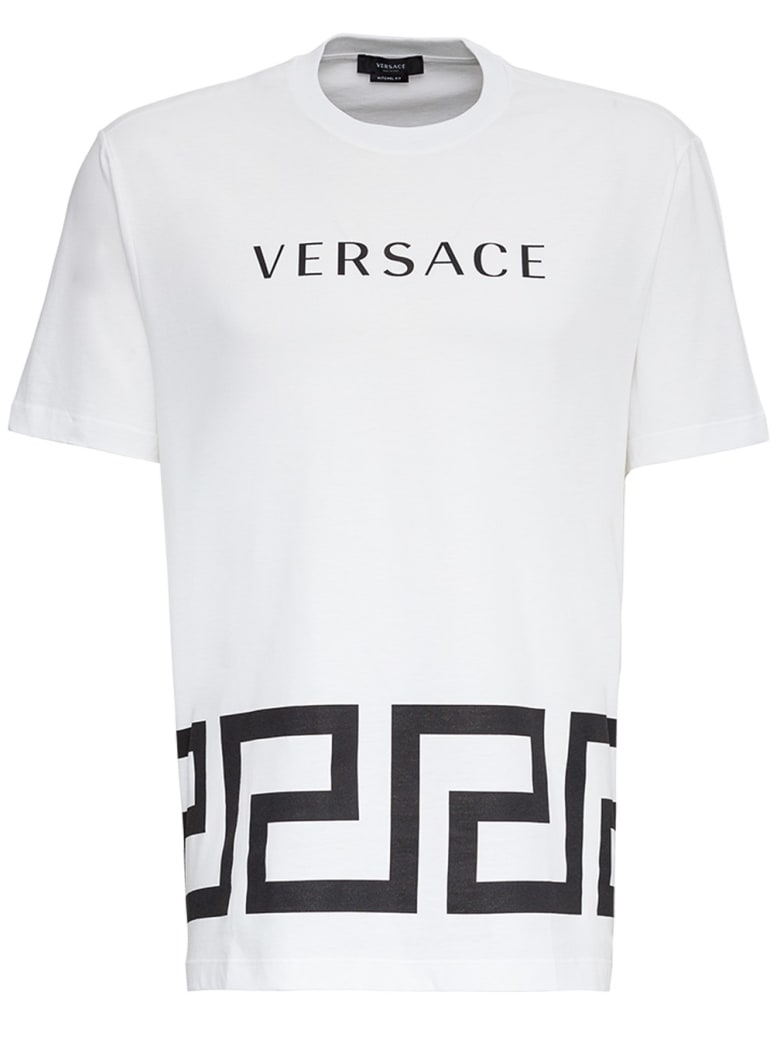 Versace Greek Key Cotton T-shirt - White