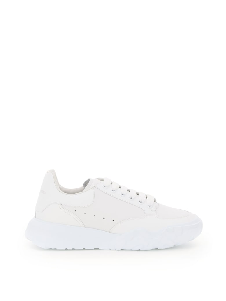 Alexander McQueen Leather Court Sneakers - Bianco