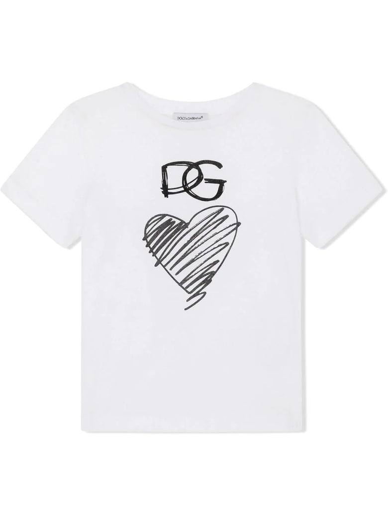 Dolce & Gabbana White Cotton T-shirt - Bianco