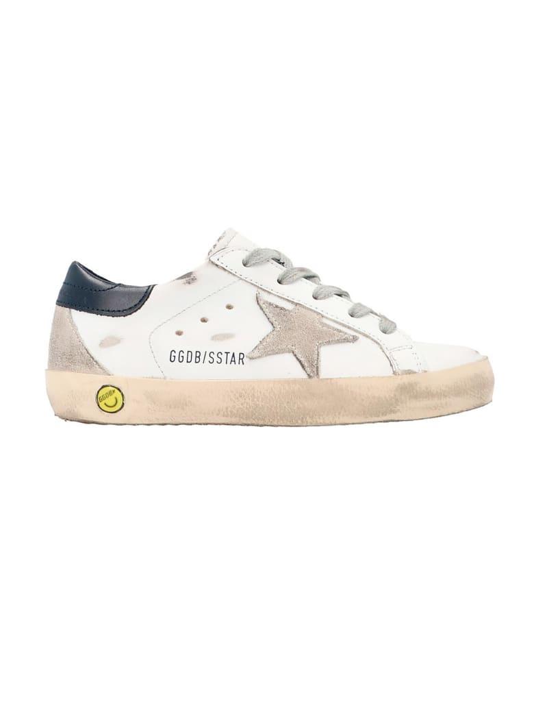 Golden Goose Super-star Low-top Sneakers - Bianco+blu