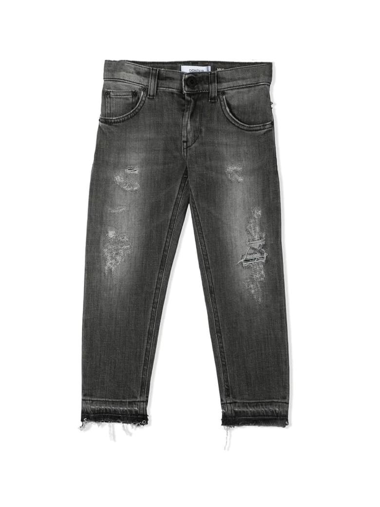 Dondup Dark Grey Stretch-cotton Denim Jeans - Grigio