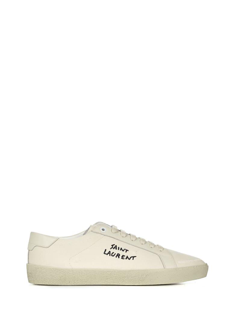 Saint Laurent Court Classic Sl/06 Sneakers - Cream