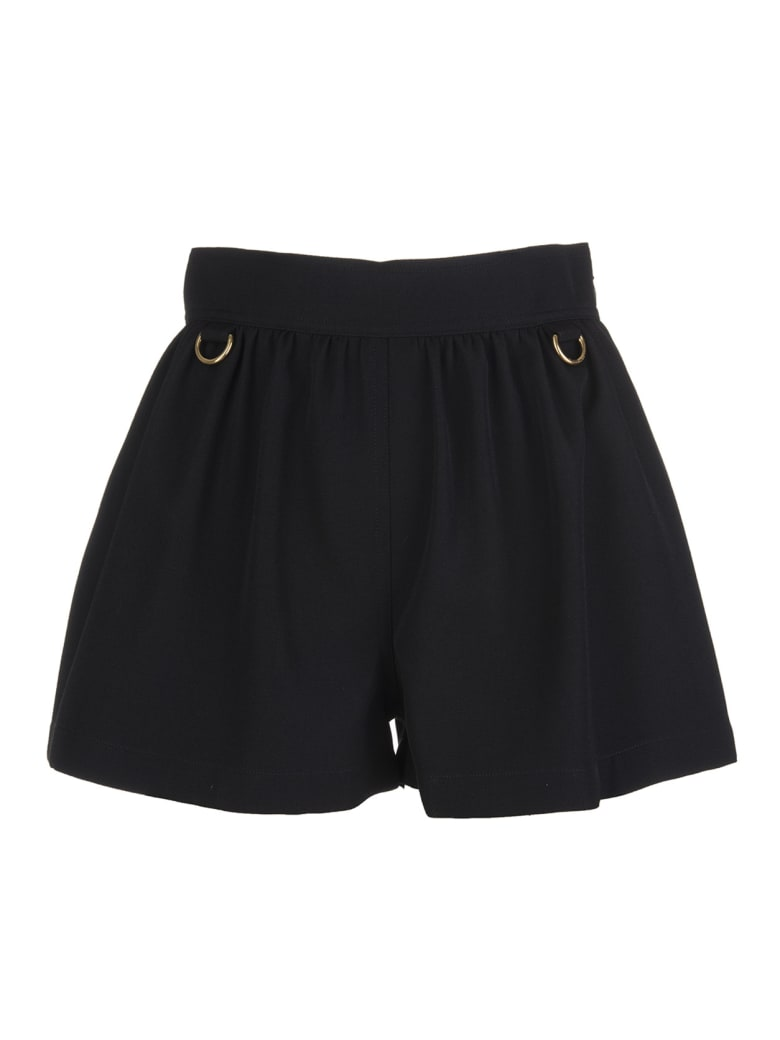 Givenchy Woman Black Shorts In Grain De Poudre Wool