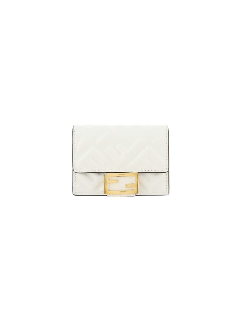 Fendi Wallet - Bianco+oro soft