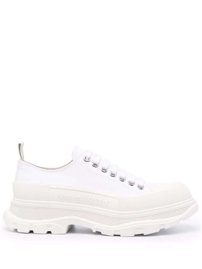 Alexander McQueen Trade Slick Fabric Sneakers - White