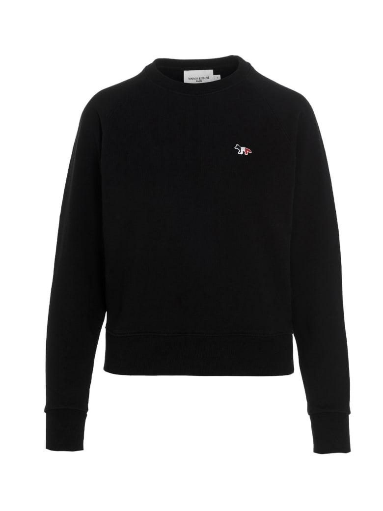 Maison Kitsuné 'tricolor Fox' Sweatshirt - Black