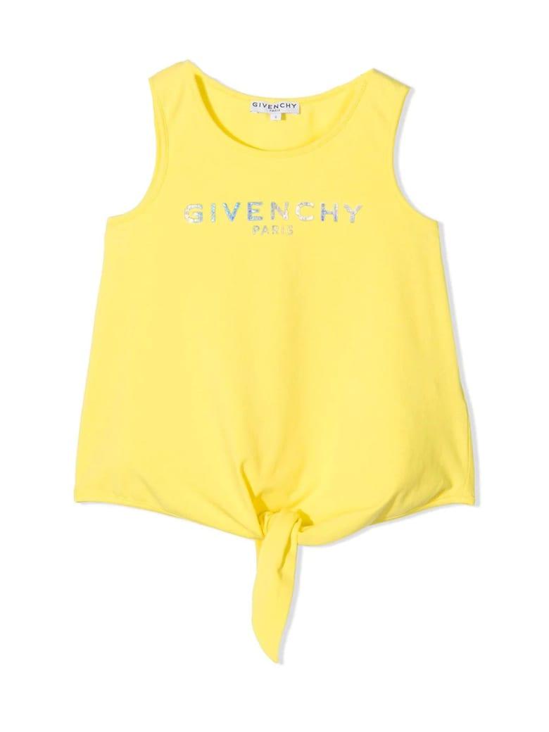 Givenchy Yellow Cotton Tank Top - Giallo