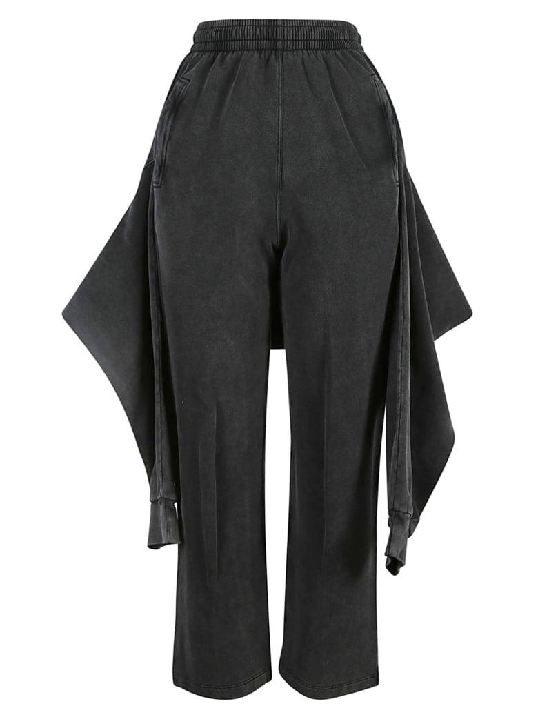 Balenciaga Ribbed Waist Cropped Pants - Nero