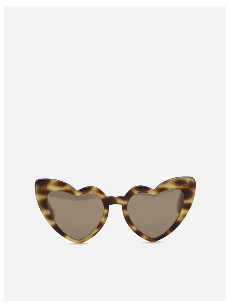 Saint Laurent New Wave Sl 181 Loulou Sunglasses - Medium avana