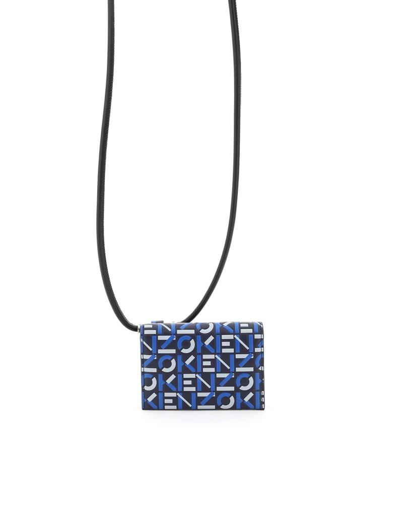 Kenzo Card Holder Pouch On Strap Logo - MIDNIGHT BLUE (Black)