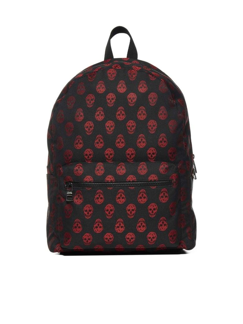 Alexander McQueen Backpack - Black lust red