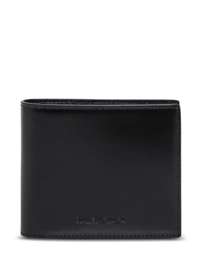 Balenciaga Black Leather Wallet - Black