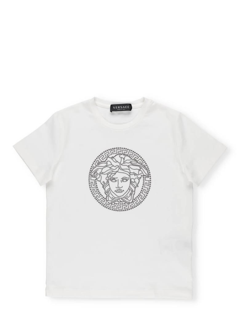 Versace Cotton T-shirt - Bianco+Canna Fucile