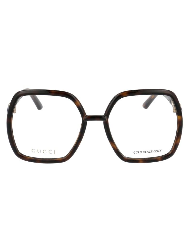 Gucci Gg0890o Glasses - 002 HAVANA HAVANA TRANSPARENT