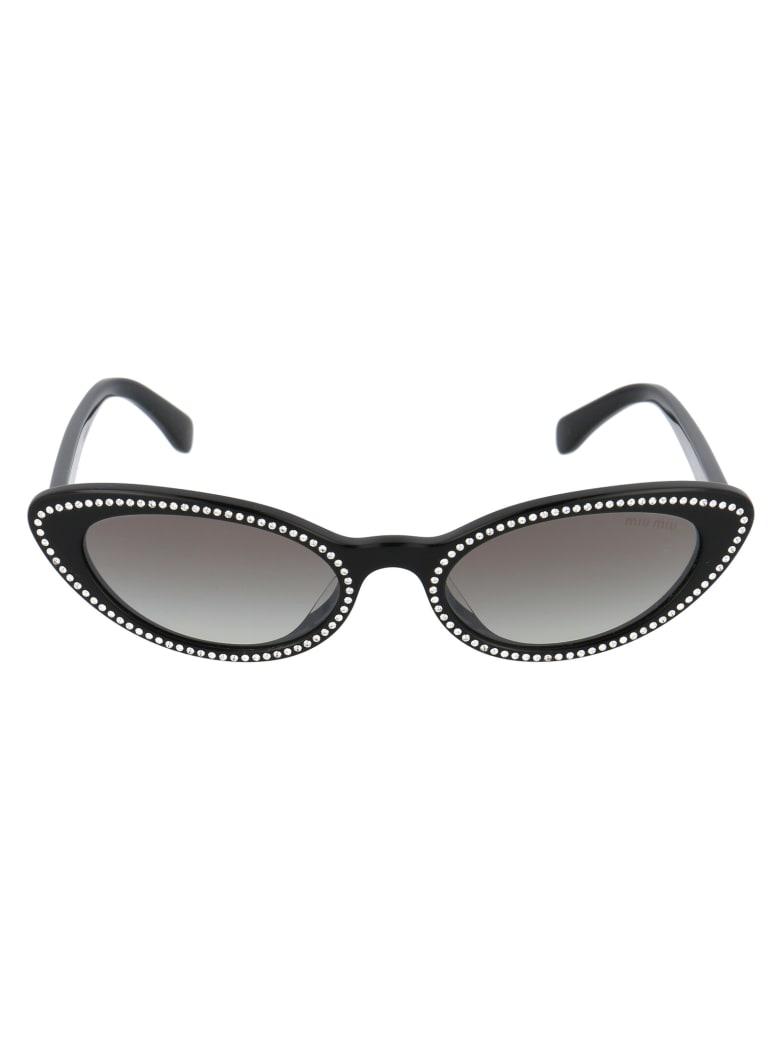 Miu Miu 0mu 09usa Sunglasses - 1415O0 BLACK