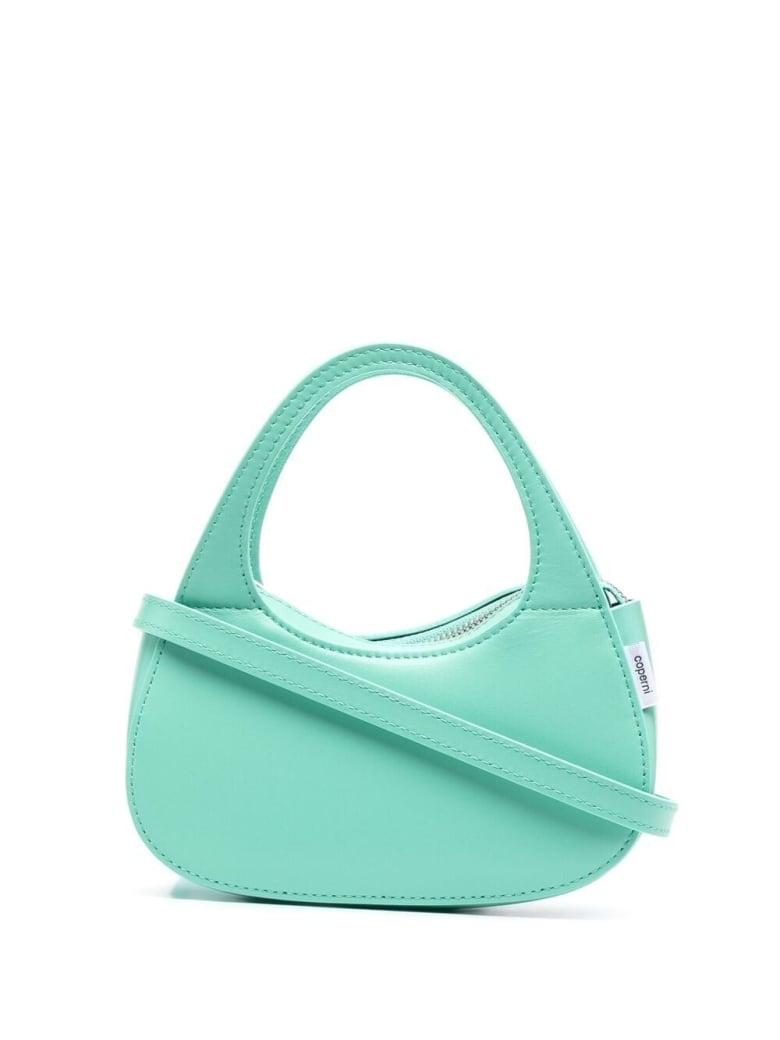 Coperni Swipe Baguette Leather Handbag - Green