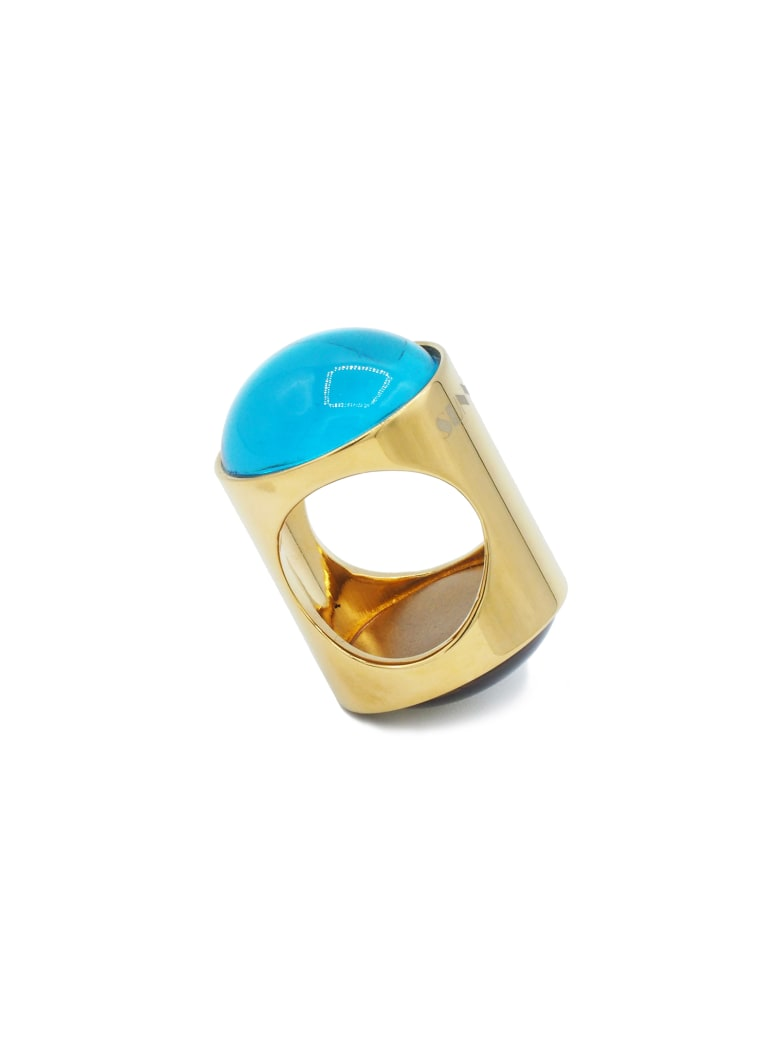 Sunnei Cabochon Ring Gold-azure/fume