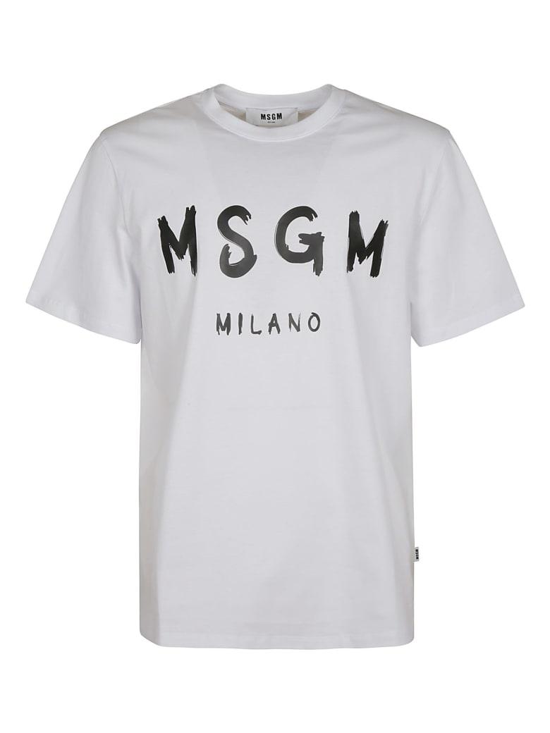 MSGM Milano Logo Print T-shirt - White