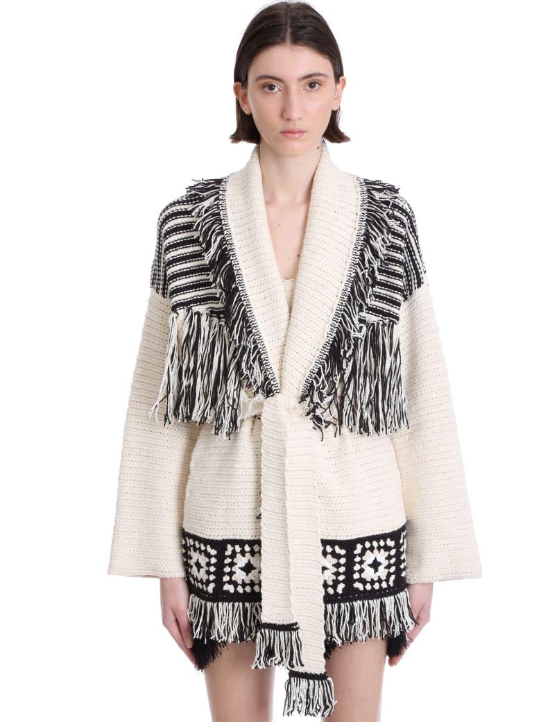 Alanui Cardigan In White Cotton - Lapponia White