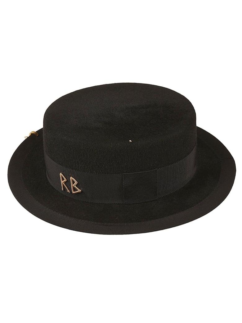 Ruslan Baginskiy Logo Embellished Hat - Black