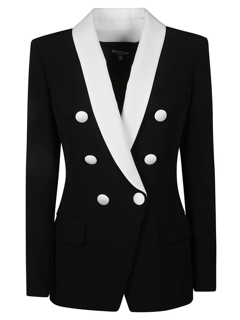 Balmain Regular Fit Plain Dinner Jacket - Nero