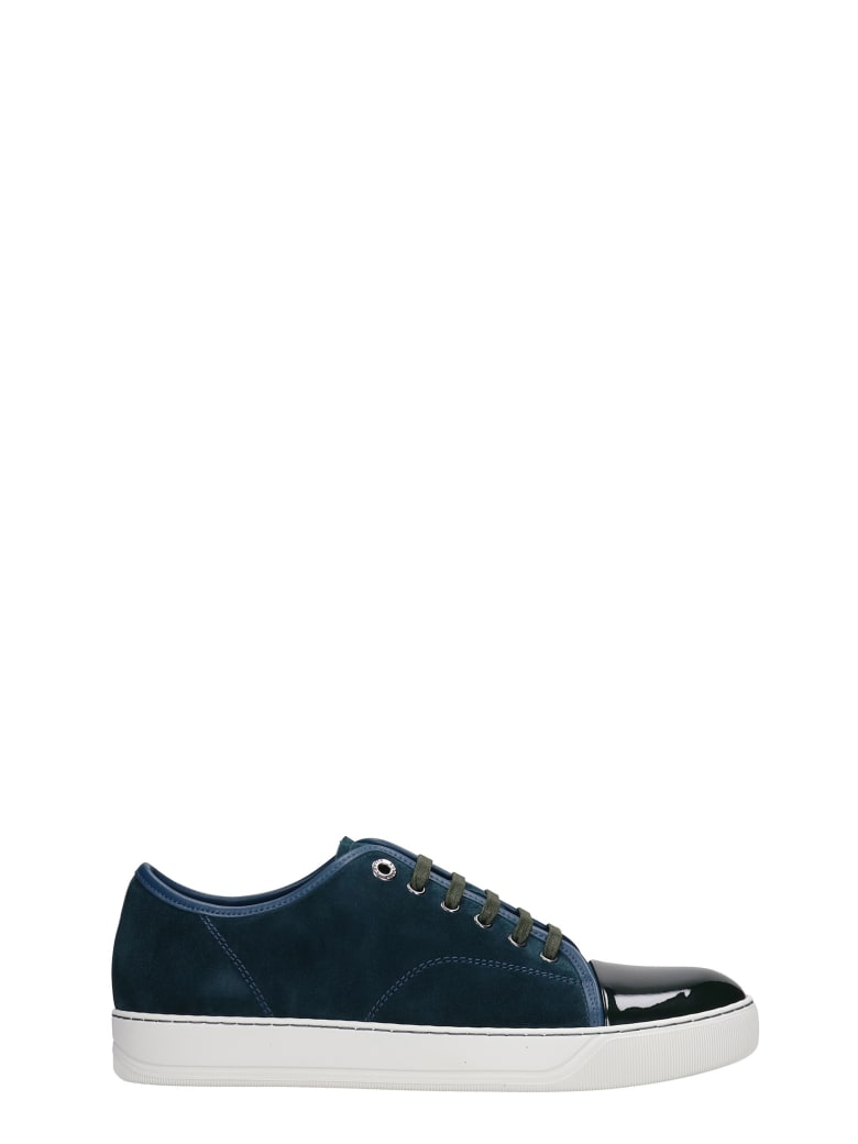 Lanvin Dbb1 Sneakers In Green Suede And Leather - green