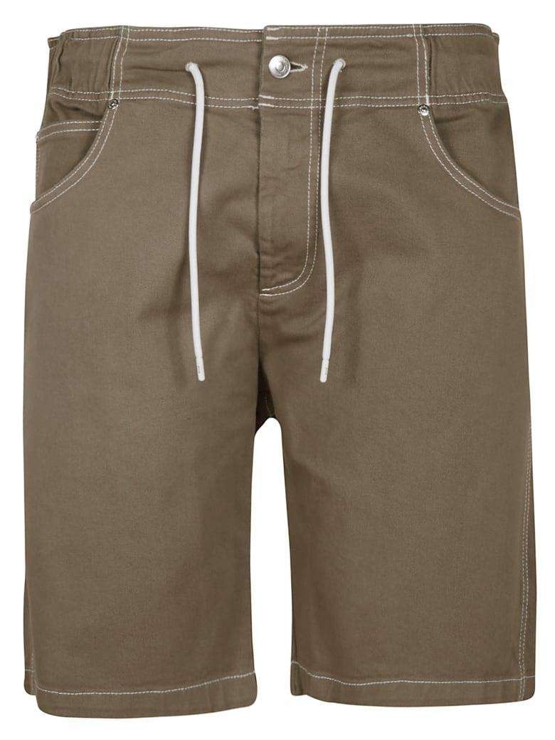 MSGM Drawstring Waist Plain Shorts - Blue